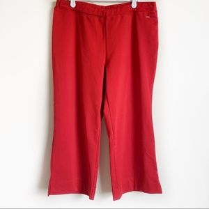 REI Capri Pant Stretch Hiking Exercise Red Size L
